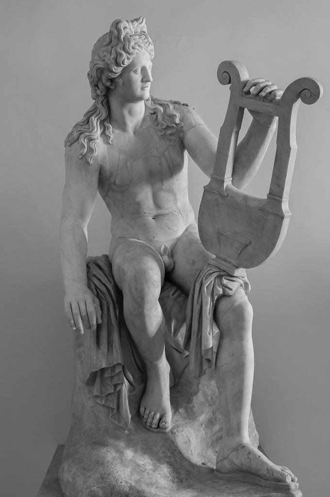 1st CE century Apollo from Rome. Partially restored. (Palazzo Altemps, Rome)