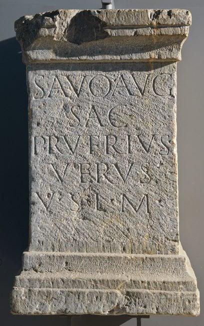 divinities: Altar for the River God Savus.