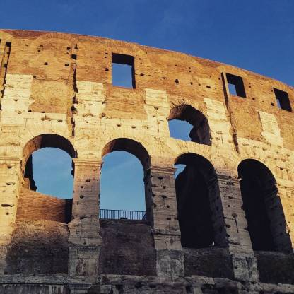 The Colosseum, also known as Flavian Amphitheatre, seen during our Rome visit.