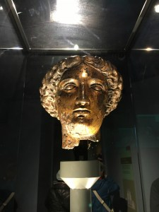The goddess Sulis Minerva, worshipped at the temple near the Roman baths. Image © Caroline Cervera.
