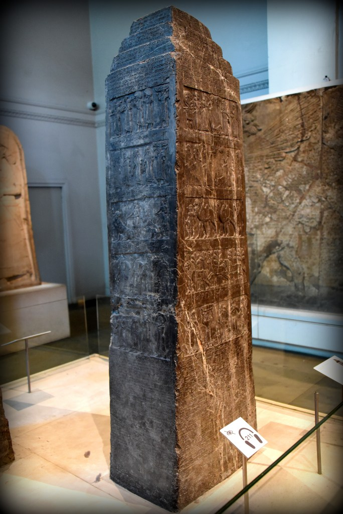 The Black Obelisk of Shalmaneser III at Room 6 of the Ground Floor of the British Museum, London. Photo © Osama S. M. Amin.