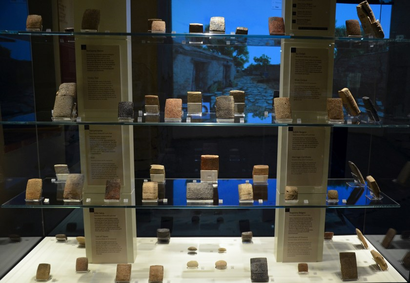 Clay tablets with cuneiform letters found Kültepe (ancient Kanesh), 1900 BC - 1700 BCE. They were all written by merchants who, from around 1900 BC, had come to Kanesh from the city of Ashur in Assyria and established a karum (trading centre). Museum of Anatolian Civilizations, Ankara. Hittite