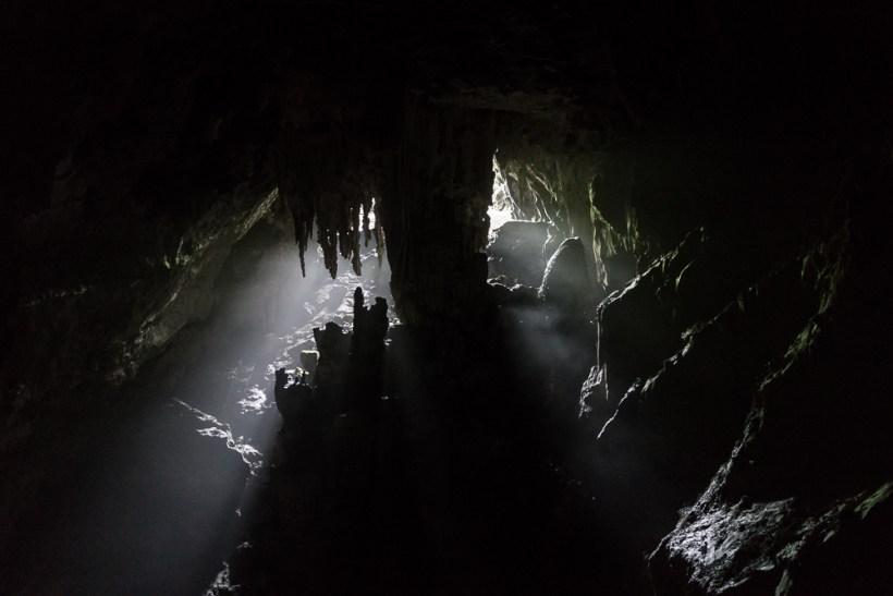 La première grotte vue de l'intérieur
