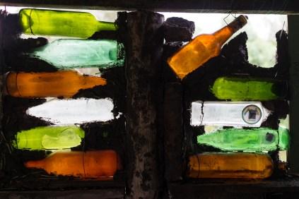 Exemple de mur en bouteilles