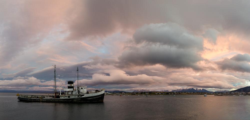 La vue depuis la ville d'Ushuaïa.