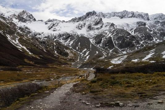 Sur la route du Glaciar Martial.