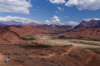 Valles Calchaquíes vue de haut.