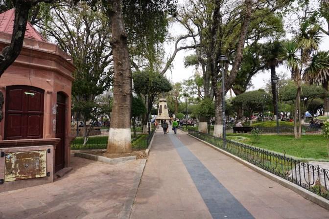 Place principale de Sucre.
