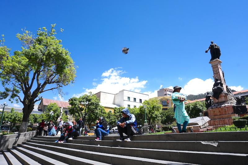 Plaza Murillo, la place aux pigeons.