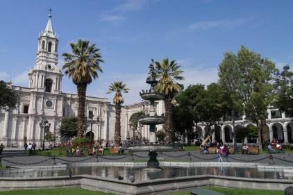 La plaza de armas de Arequipa.