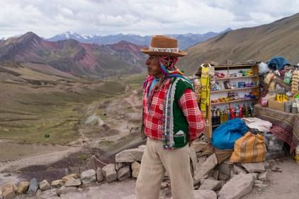 Juan vous attend avec un petit thé de coca à 5 000m.