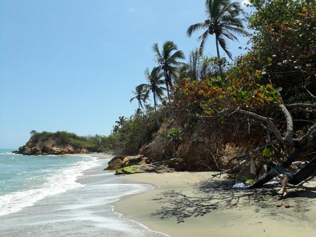 Une des plages désertes de Palomino.