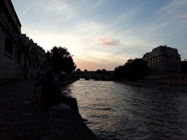 Coucher de soleil sur la Seine.