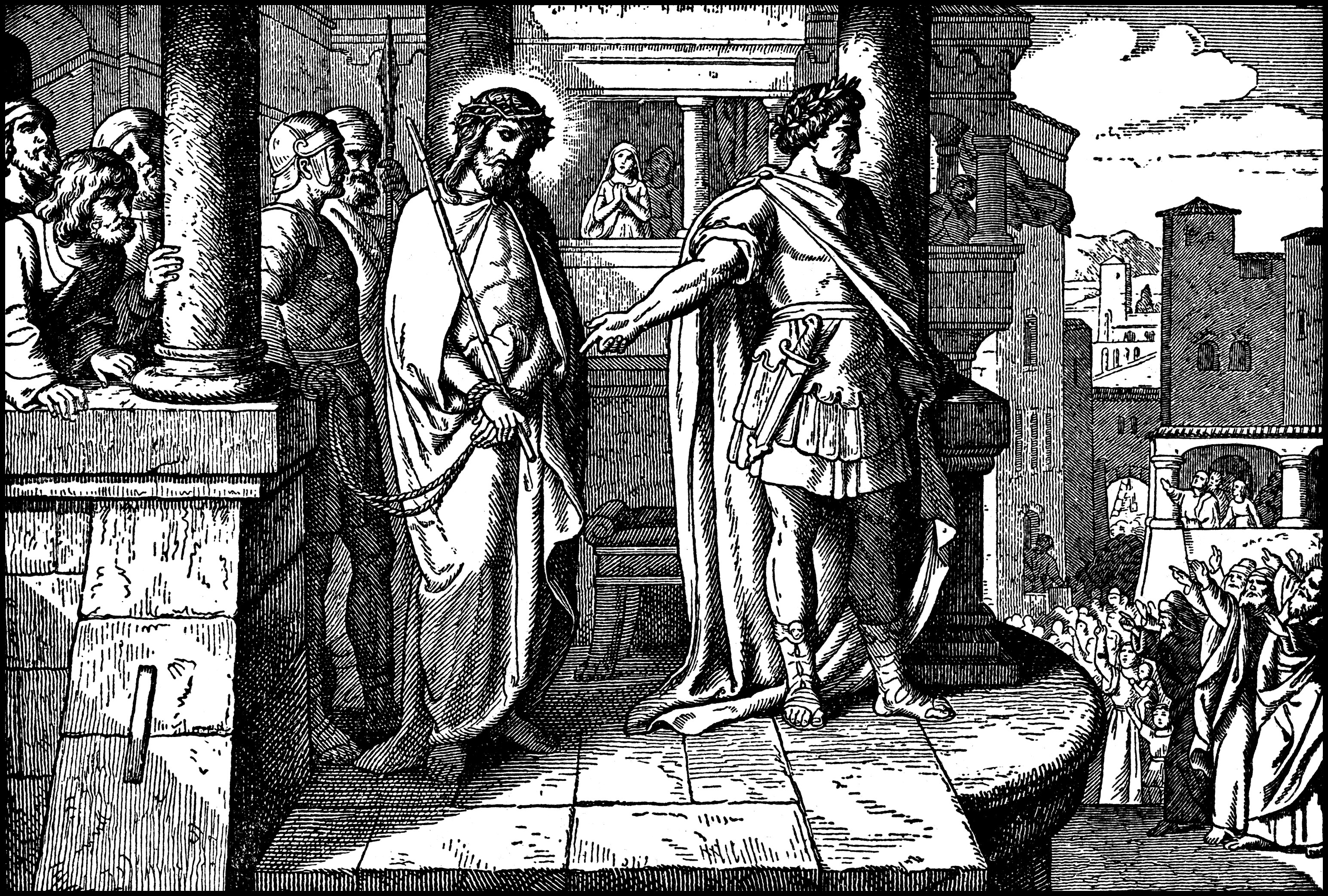 Pilate Brings Jesus Before The People And They Ask For His