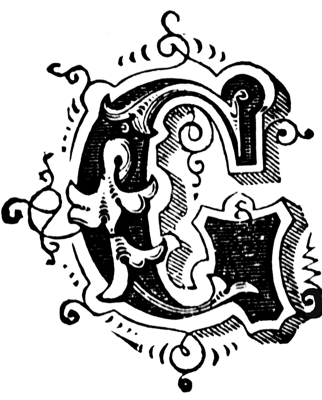 G Ornamental Letter Clipart Etc