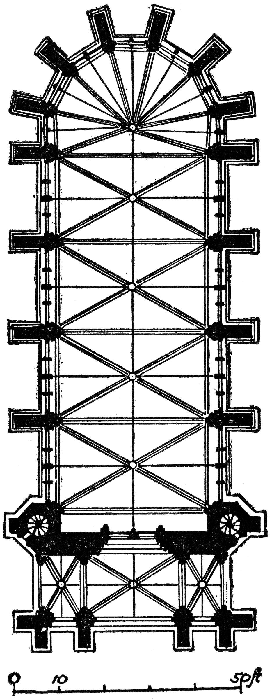 Plan Of Sainte Chapelle Paris Clipart Etc