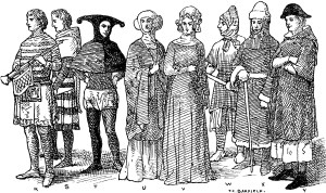 England Fourteenth Century Middle Ages Fashion | ClipArt ETC