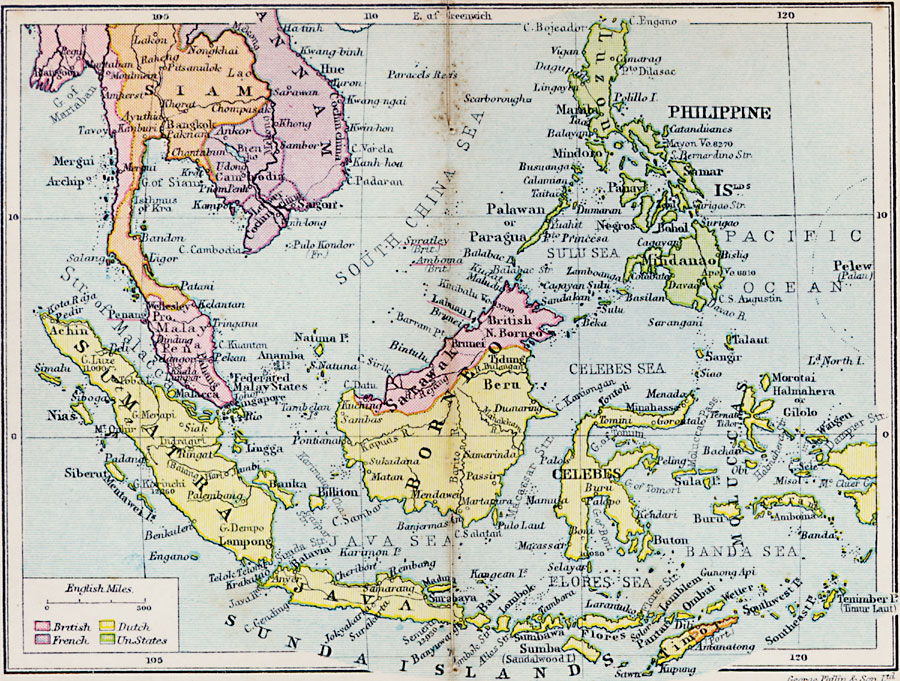 East Indies Title  East Indies Projection  Unknown  Source Bounding Coordinates  W  100  E  125 N  20 S  10