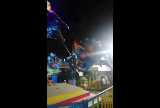 <海外バイラル動画>移動遊園地の回転マシンで「タコ足」がちぎれる恐怖の事故