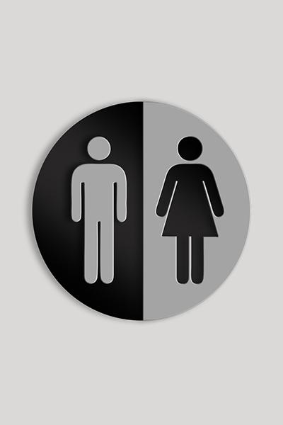 Male / Female Bathroom Door Sign. Zoom Images