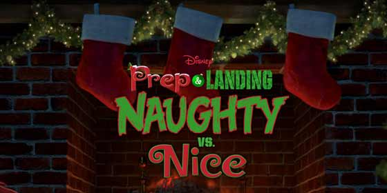 """Title screen from """"Disney's Prep & Landing: Naughty or Nice"""""""