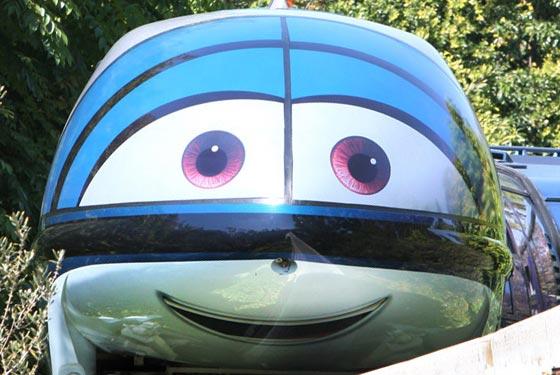 Mandy Monorail at the Disneyland Resort