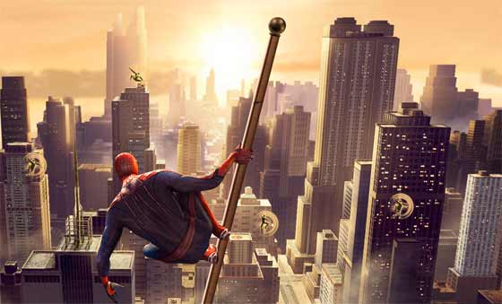 Spider-Man over New York City