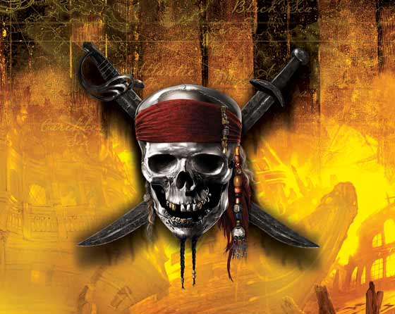 Skull and crossbones of Jack Sparrow