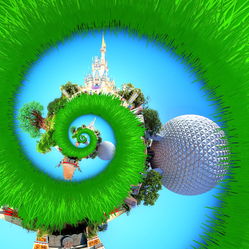 Droste image of Cinderella Castle in the Magic Kingdom