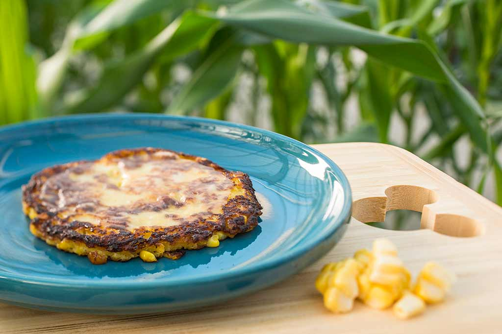 Cachapas, sweet yellow corn pancake