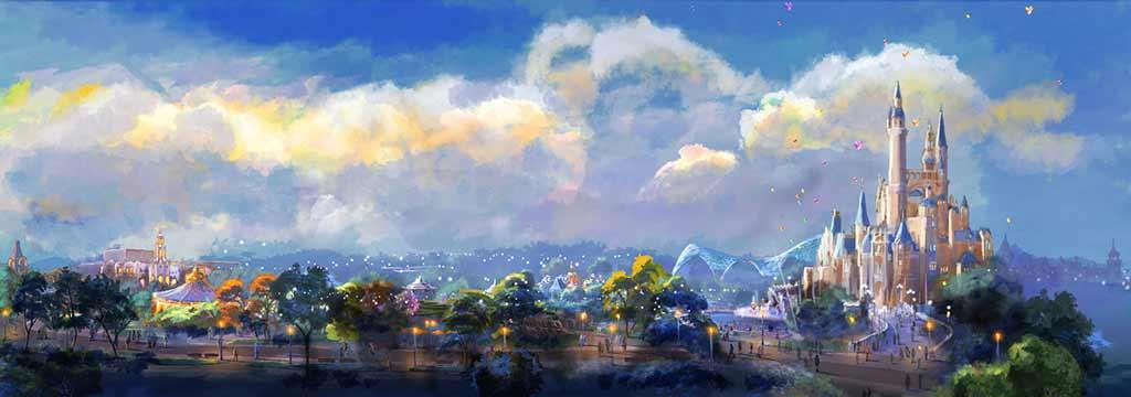 Artists rendering of the new Disneyland Shanghai Park