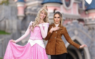perrie edwards' returns to disneyland paris