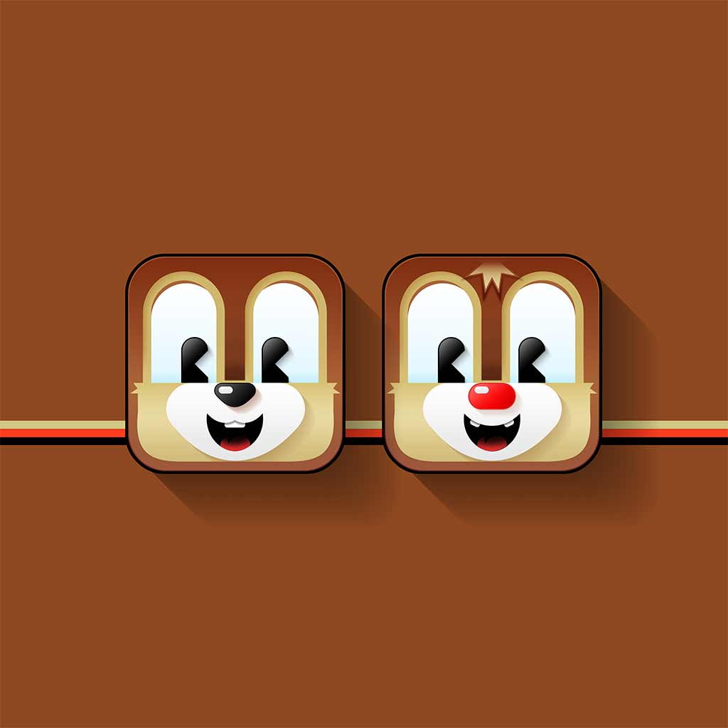 Chip and Dale cutie icons