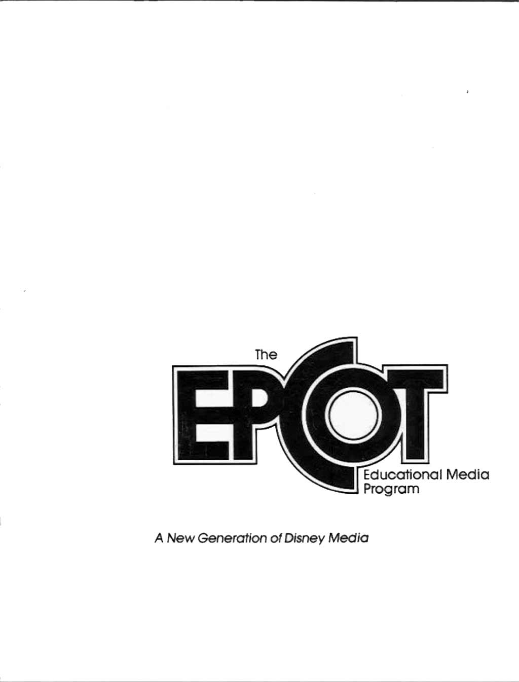 Epcot education pamphlet