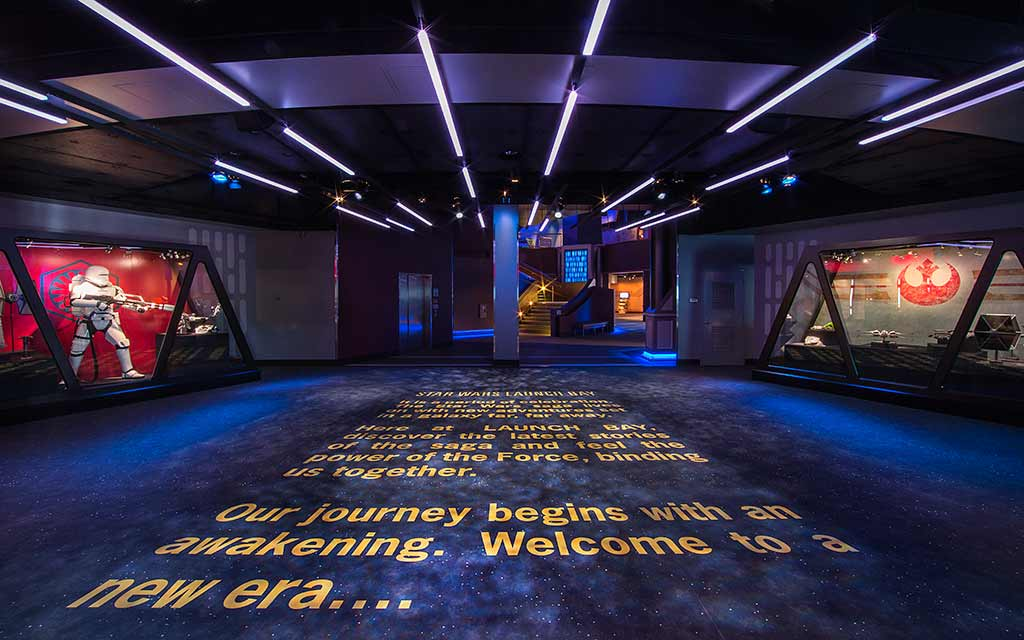 Entryway of the Star Wars Launch Bay