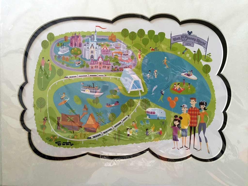 SHAG 40th Anniversary Walt Disney World map print