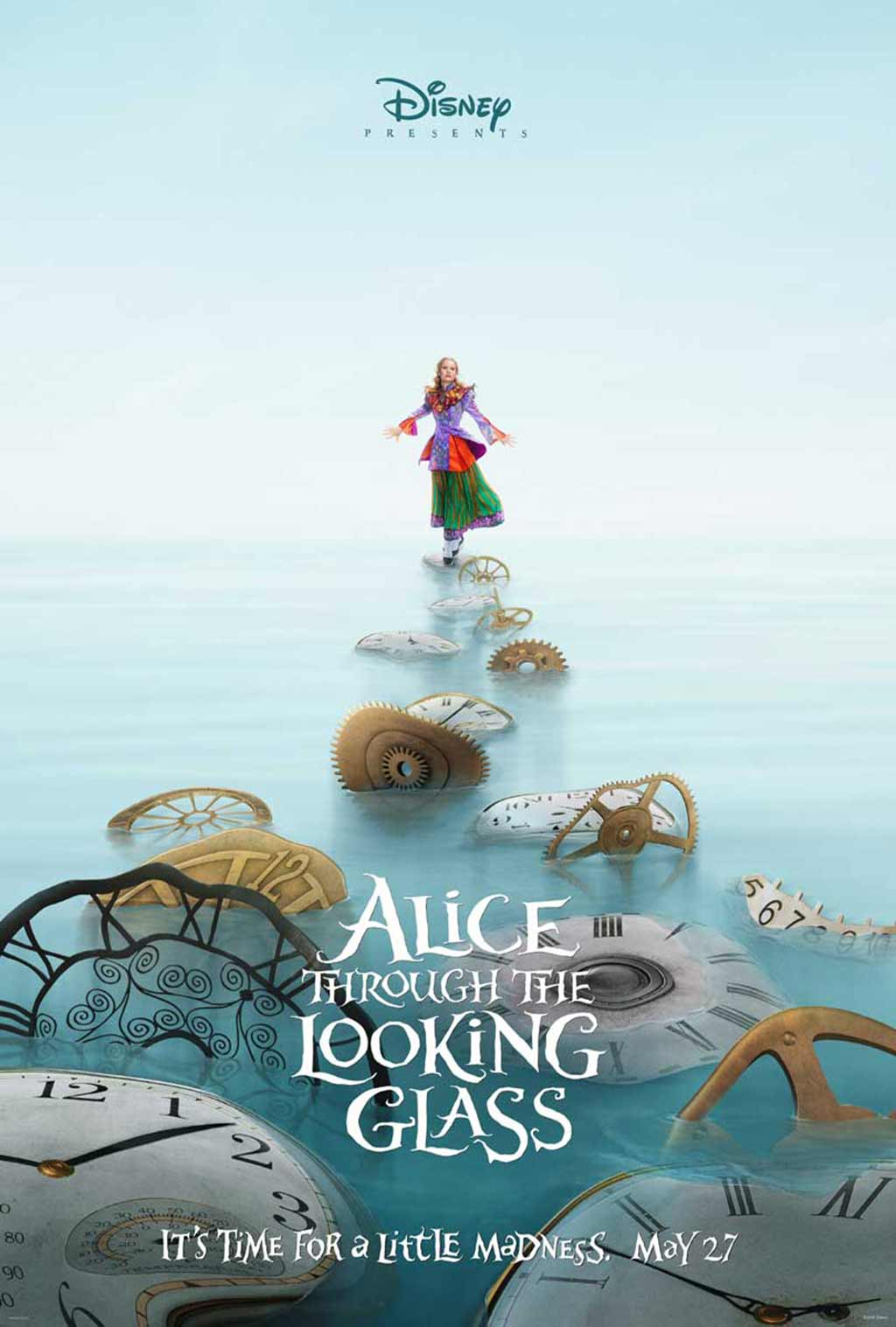 Alice Through the Looking Glass teaser movie poster