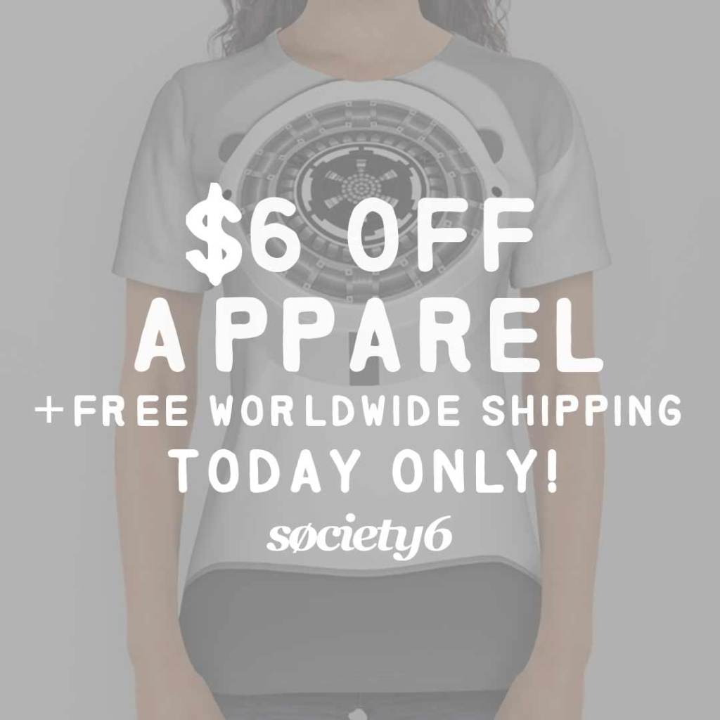 Sale graphic from Society6