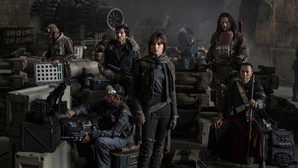 Rogue One: A Star Wars story cast shot