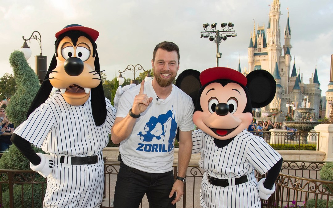 world champion cubs celebrate at the magic kingdom