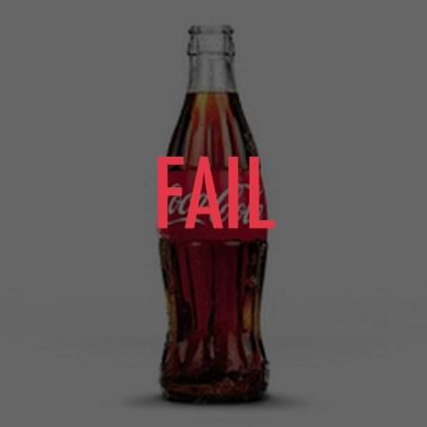 los errores del marketing coca-cola fail
