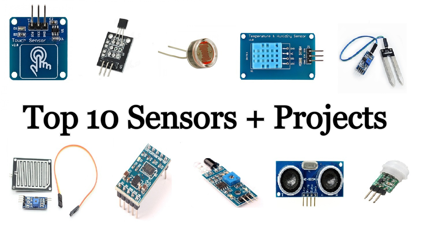 TOP 10 Arduino-Sensors with Projects for Beginners