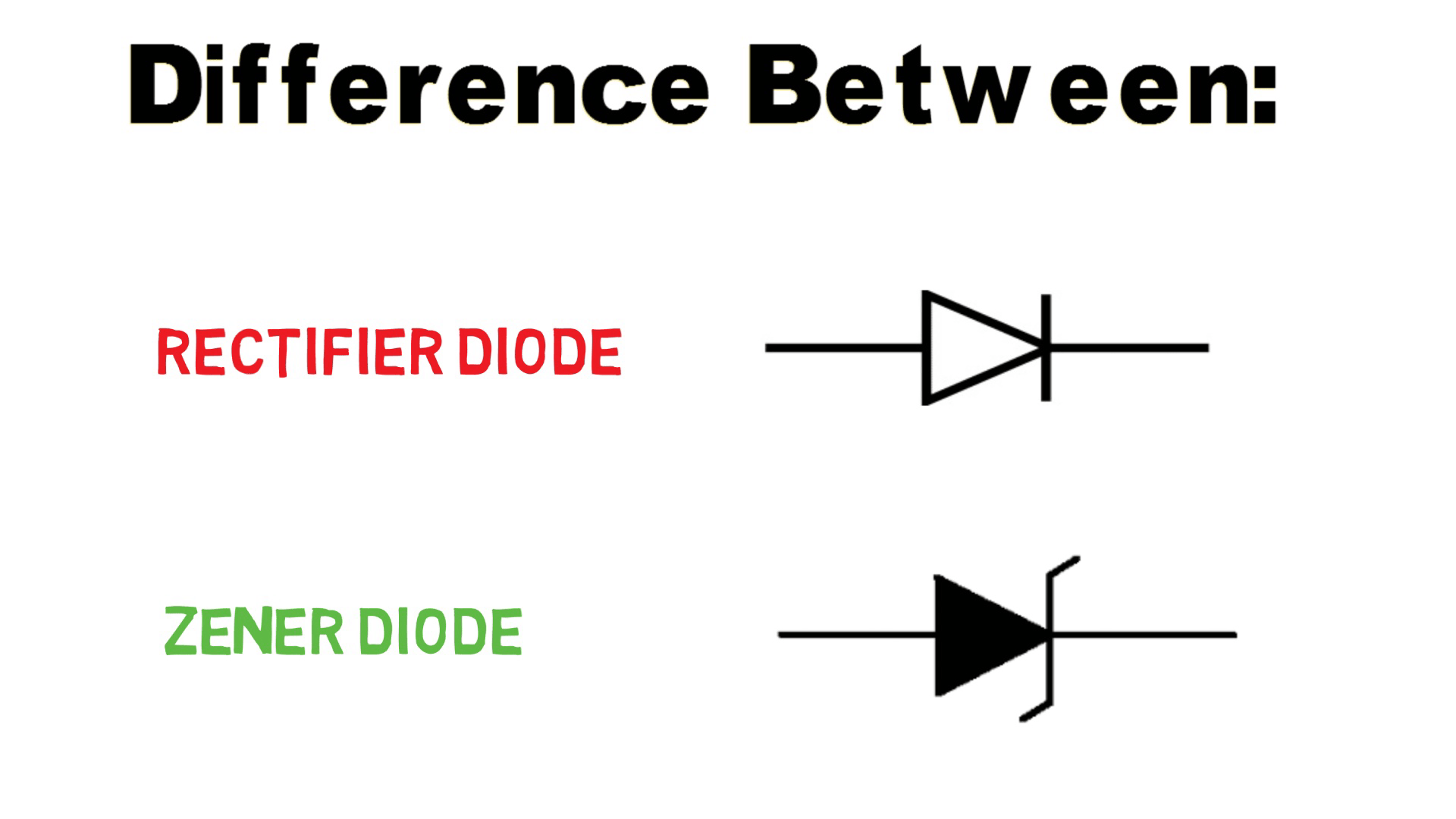 Difference Between Zener Diode And Normal Rectifier Diode