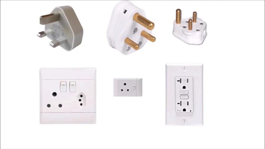 Three pin plug and sockets around the world