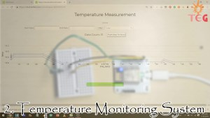 Temperature Monitoring System, one of the top iot projects for beginners