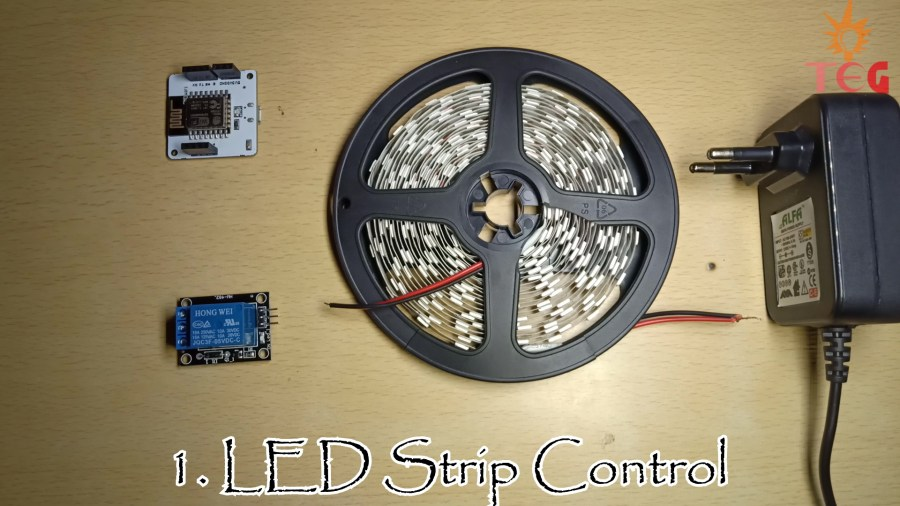 Components required for LED Strip Control IoT project