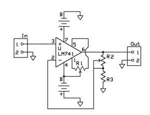 DC Non-inverting amplifier circuit