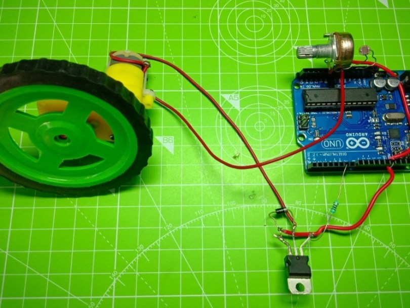 LIGHT CONTROLLED DC MOTOR