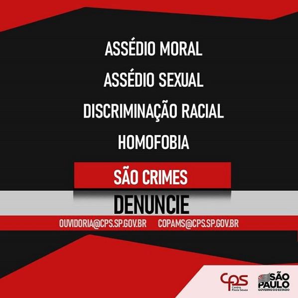 A Ouvidoria e a Comissão Permanente de Orientação e Prevenção contra o Assédio Moral e Sexual (COPAMS) recebem as dúvidas, reclamações e denúncias de assédio moral e sexual.