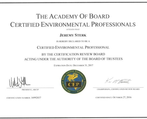 Certifications Archives - Earth Tech Environmental